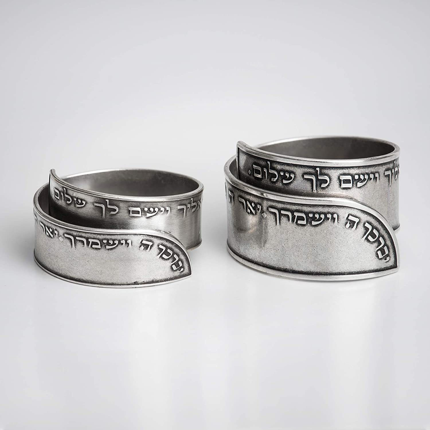 8f30882bcca96 Jewish ring engraved with the Priestly blessing prayer, Unisex 925 sterling  silver plated open adjustable ring, Handmade Israeli religious Hebrew ...