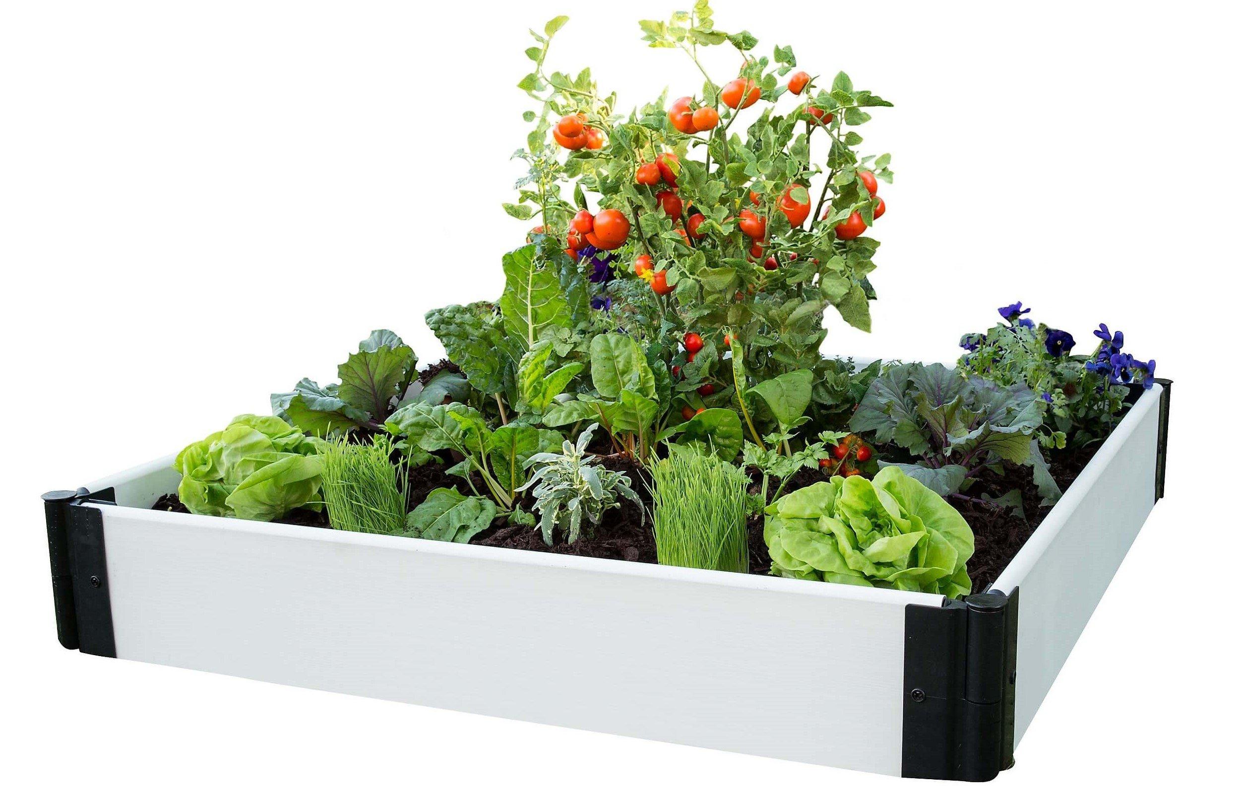 Frame It All White 4ft x 4ft Raised Garden Kit
