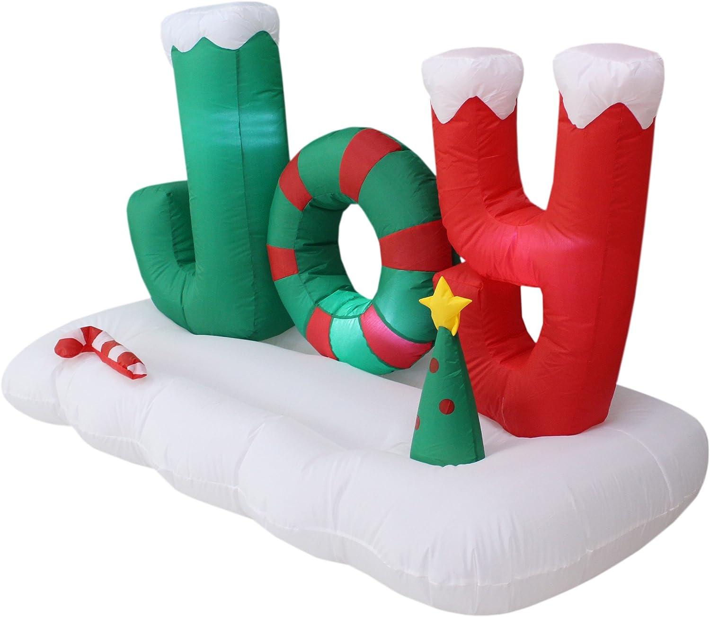 Amazon.com: 5 foot largo Árbol de Navidad iluminado Alegría ...