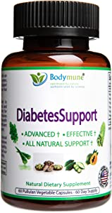 Natural Diabetes Support   Diabetes Health Pack Optimal Nutrition I Diabetes and pre-Diabetes Supplement by Bodymune   60 Day Supply   Made with Organic Herbs, Fruits and Essential Oils   Vegan Omega