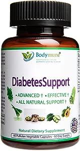 Natural Diabetes Support | Diabetes Health Pack Optimal Nutrition I Diabetes and pre-Diabetes Supplement by Bodymune | 60 Day Supply | Organic Moringa Nopal Aloe Vera Triphala Papaya | Vegan Omega