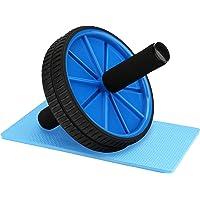 Reehut Rouleau Abdominal Wheel Roue de Fitness avec Tapis Epais pour Musculation Ventrale Genou Roues Jumelées Noir/Bleu/Rouge