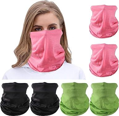 6 Pieces Face Mask Balaclava Neck Gaiter Fishing Biking Outdoor Shield Cover