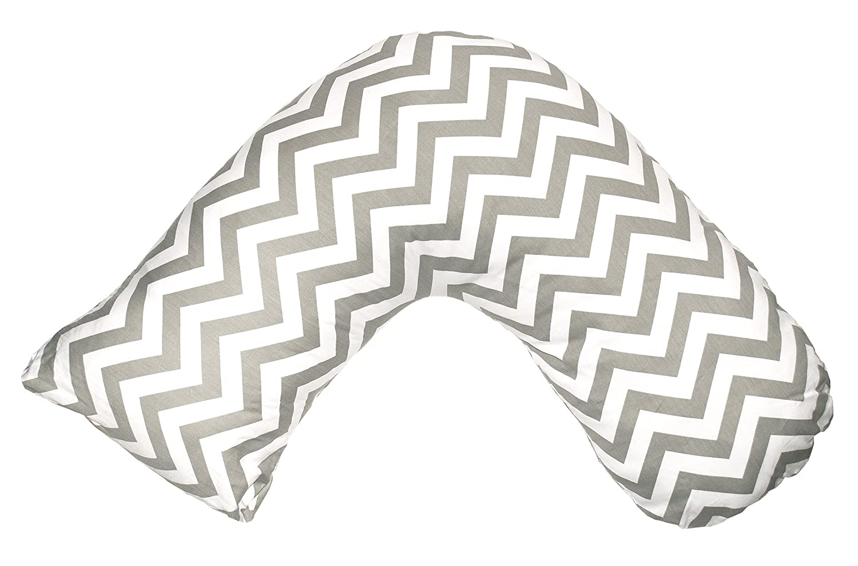 Jolly Jumper Boomerang Nursing Pillow- Grey Chevron, Grey/White, One Size 426-14