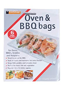 toastabags Disposable Oven and BBQ Cooking Bags, 12 x 7.5 Inch - 6 Bags per Pack, 3-Pack