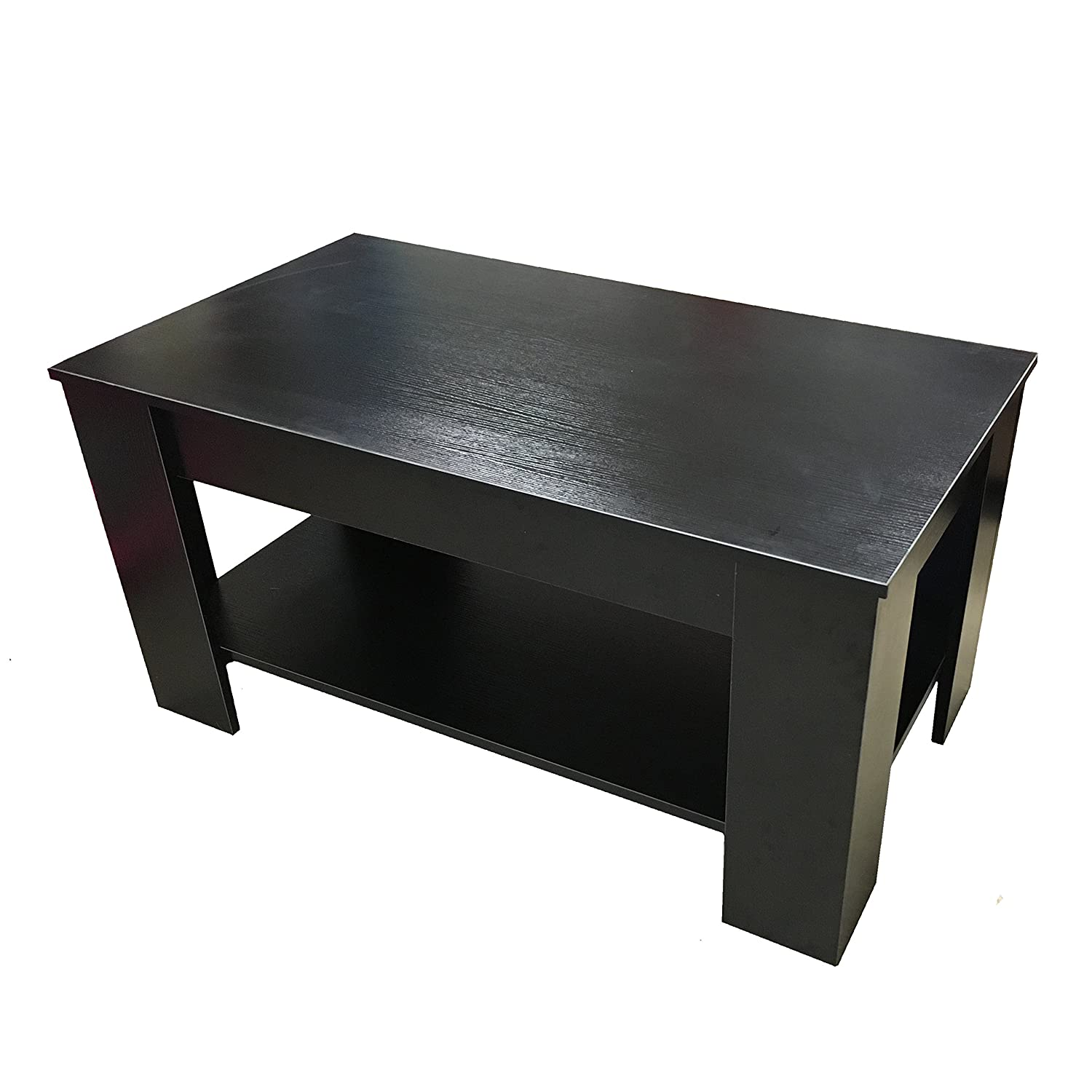 "Redstone Coffee Table Black or Dark Walnut "" "" Lift Up Top with"
