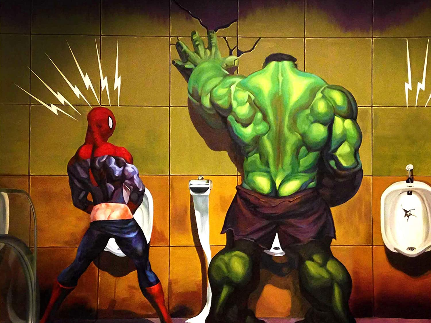 Funny Toilet Hulk Avengers Poster Standard Size 18×24 inches