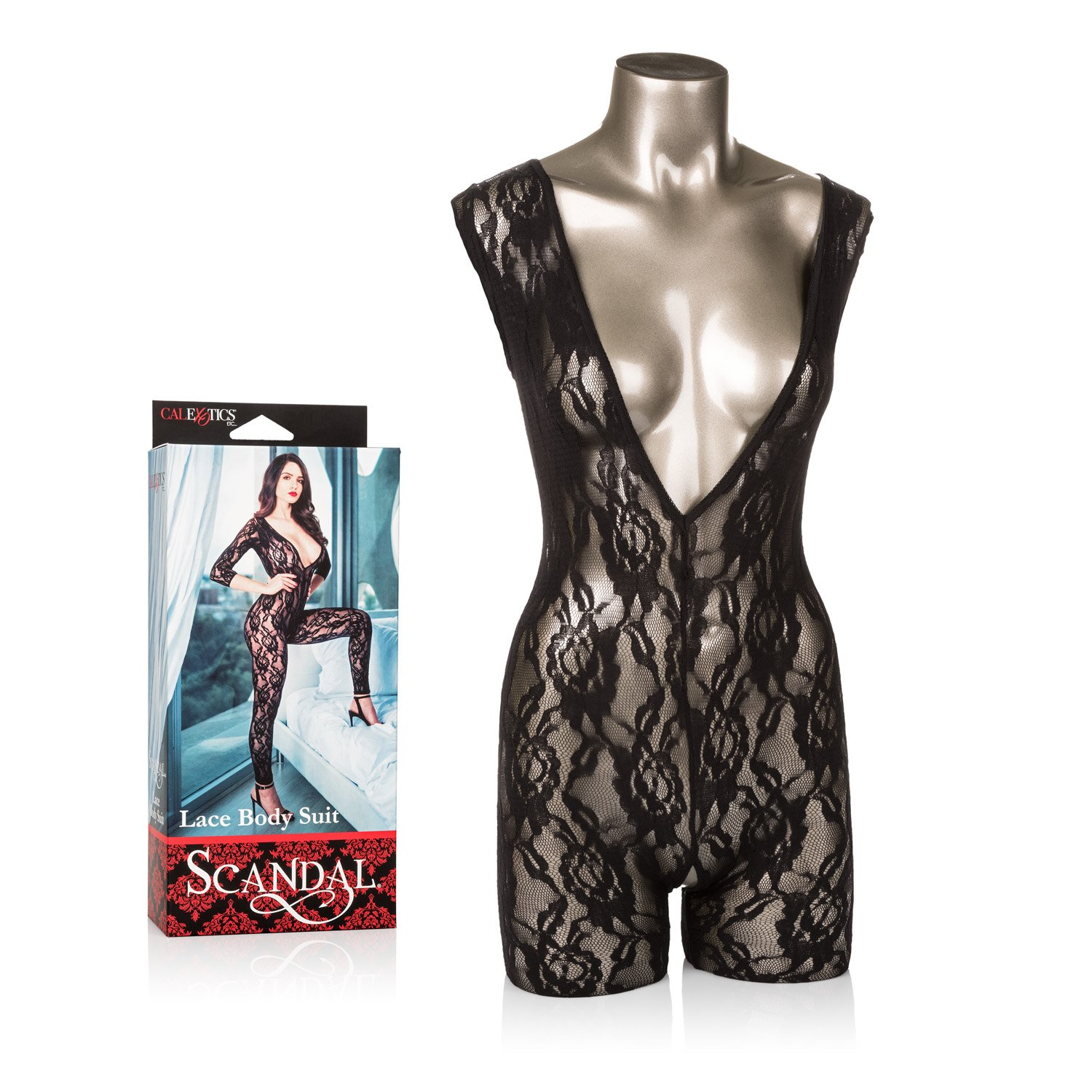 734259cbc Amazon.com  CalExotics Scandal Body Suit – Erotic BDSM Fetish Outfit for  Couples – Fetish Role Playing Jumper - Black  Health   Personal Care