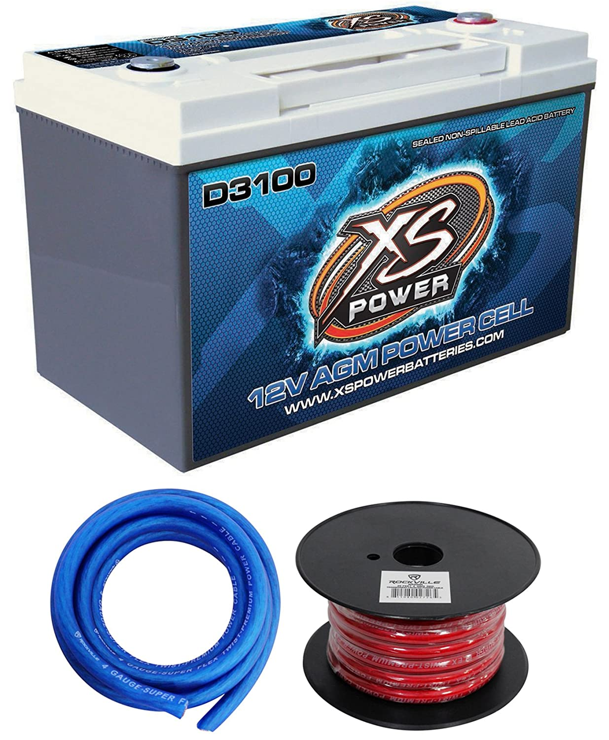 Xs Power D3100 5000 Amp Cell Car Battery Gauge Amplifier Installation Wiring Kit Ofc Ebay Hardware Ground Wires Automotive