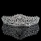 Topwedding Crystal Rhinestone Bridal Headpiece Pageant Hair Accessory Wedding Tiara Crown