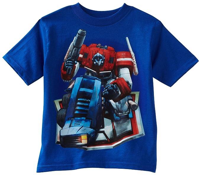 Transformers Boys 2-7 Optimus Prime Bend Tee, Royal