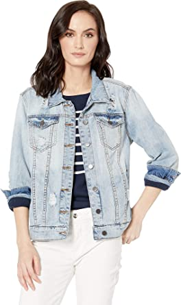 ac873cd22 KUT from the Kloth Women's Emma Boyfriend Jacket in Esteemed/New ...