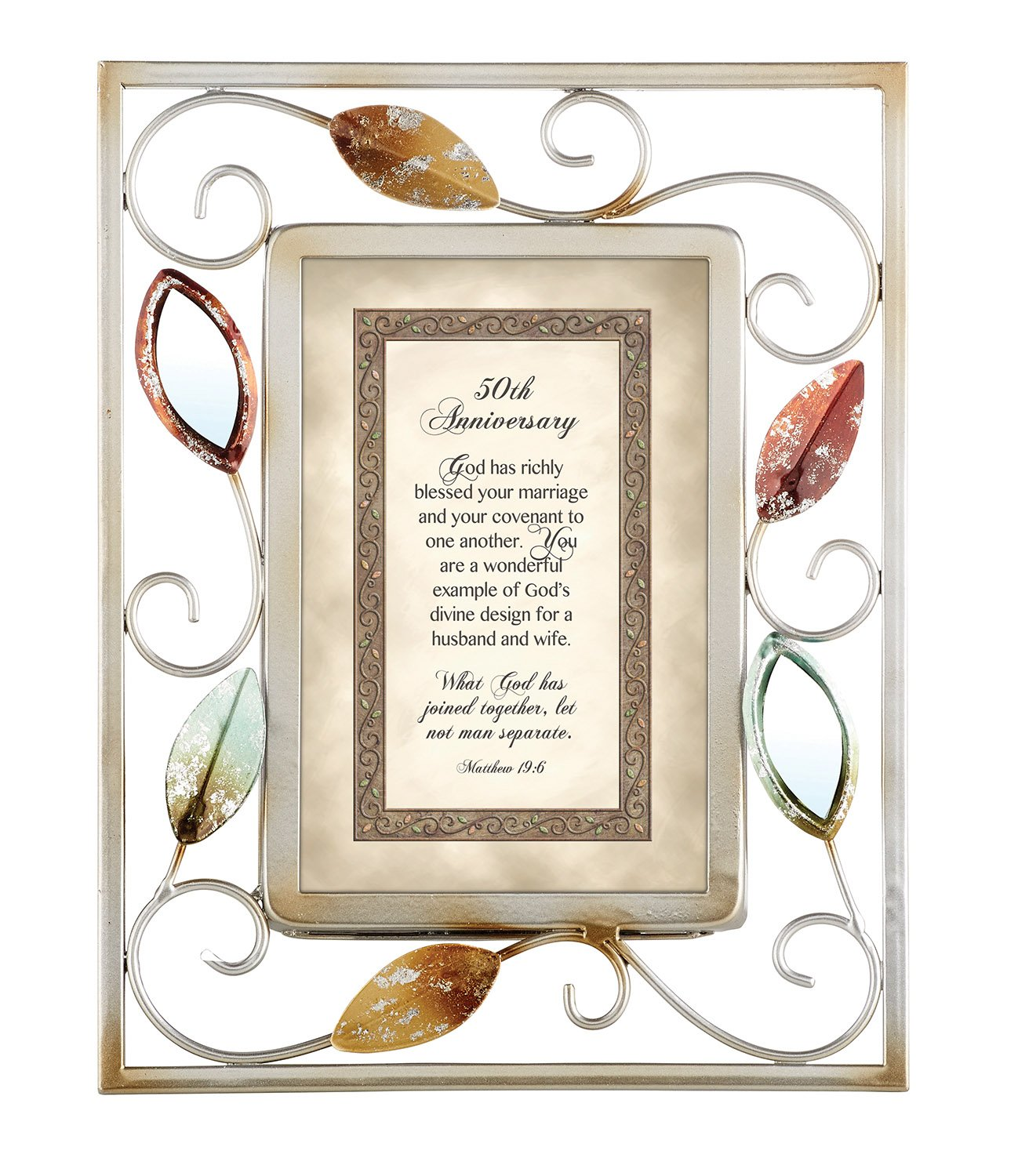 CB Gift Heartwarming Expressions 50th Anniversary Metal Framed Print