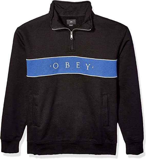 Obey Mens O.b.e.y Mock Neck Trench Jacket
