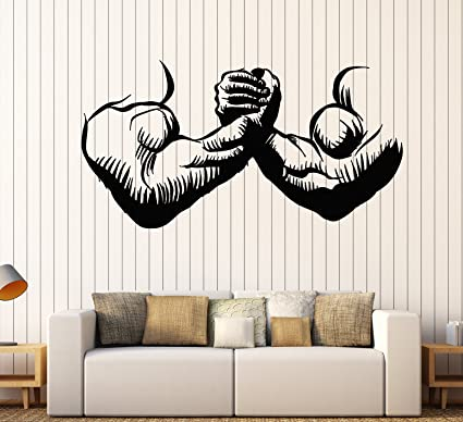 Super Amazon Com Vinyl Wall Decal Gym Muscles Man Hands Ocoug Best Dining Table And Chair Ideas Images Ocougorg