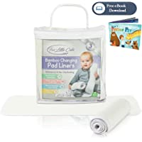 Changing Pad Liners - Waterproof Washable Large Diaper Changing Table Pad Cover [3 Pack] Portable Baby Changing Pad