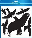 Avery Zweckform 4485 Feuille de silhouettes d'oiseaux autocollantes plastifiées 14,5 x 4,5 mm (Noir/transparent) (Import Allemagne)
