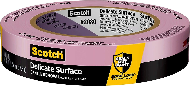 3M 2093EL-24E ScotchBlue Trim 1 Roll.94 0.94-Inch x 60-Yard 3 BASEBOARDS Painters Tape Blue