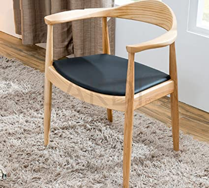 Lakdi Wooden Design Cafe Dining Chairs With Mattress Pads