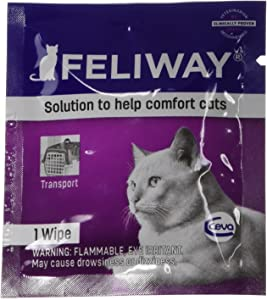 Feliway Animal Health C95660B 12 Count Feliway Wipes, All Sizes,Purple