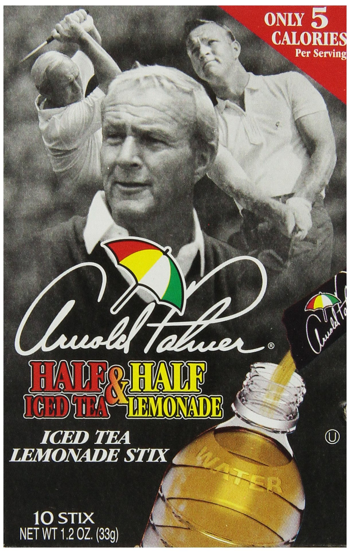 AriZona Arnold Palmer Half Lemonade Half Iced Tea Stix, 10 Count Per Box (Pack of 6), Low Calorie Single Serving Drink Powder Packets, Just Add Water for a Deliciously Refreshing Iced Tea Beverage