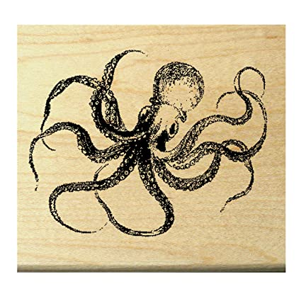 Amazon Miniature Octopus Rubber Stamp WM P23 Arts Crafts Sewing