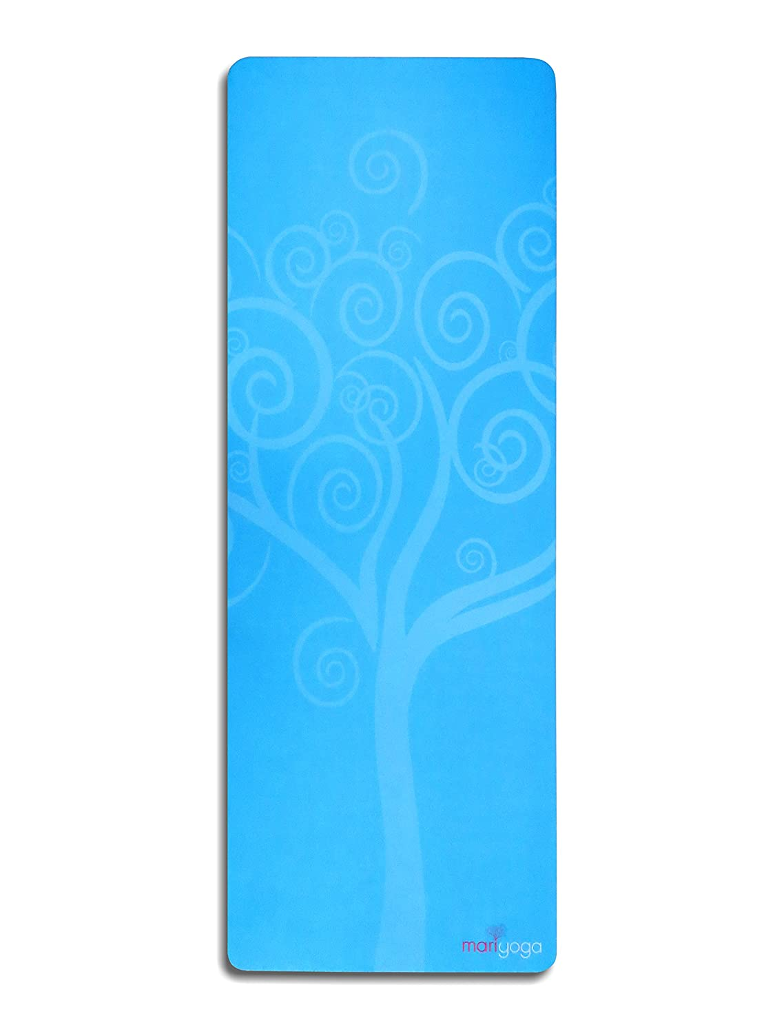 Koru Tree Yoga mat (Eco, 100% natural rubber tree - marine Blau)