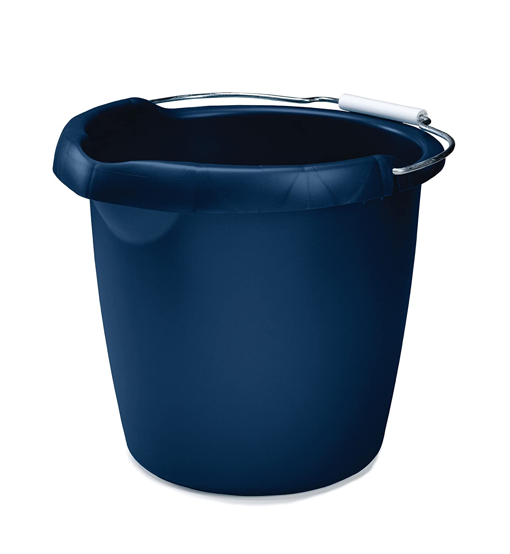 Rubbermaid FG296900ROYBL Roughneck Round Bucket, 15-Quart, Blue