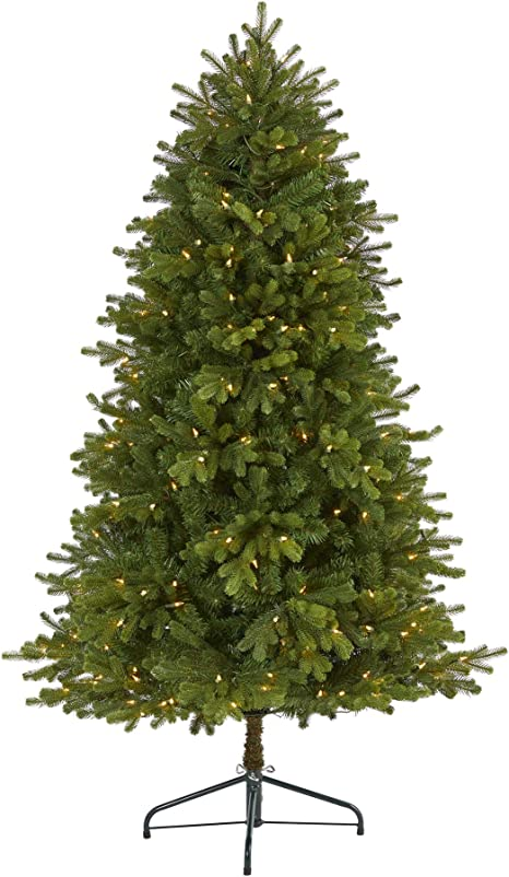Nearly Natural 5 5ft Washington Fir Artificial Christmas Tree With 300 Clear Lights And 672 Bendable Branches Green Home Kitchen