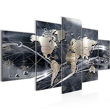 Amazon.de: Bilder Weltkarte World Map Wandbild 200 x 100 cm Vlies ...