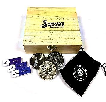 Raw - Caja de almacenamiento para útiles de fumador (tamaño grande, madera)