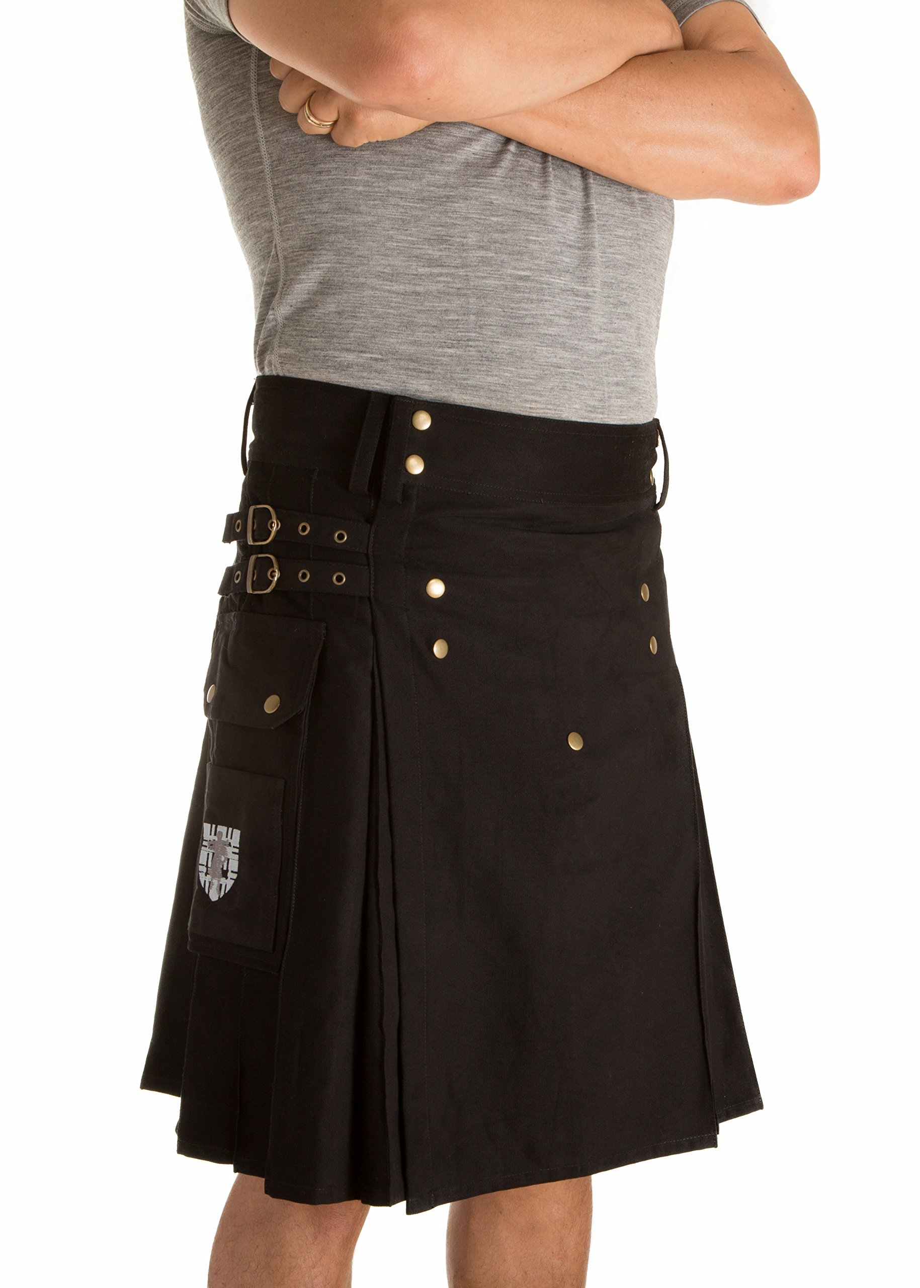 Damn Near Kilt 'Em Men's Sport Utility Kilt Large Black