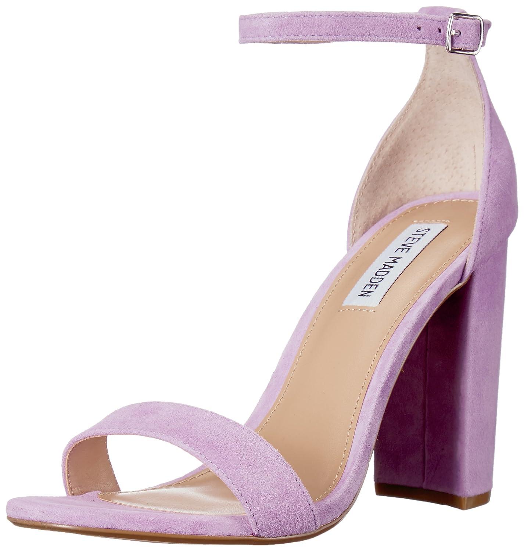 Steve Madden Women's Carrson Dress Sandal B077P1NZFY 6 B(M) US|Lavender Suede