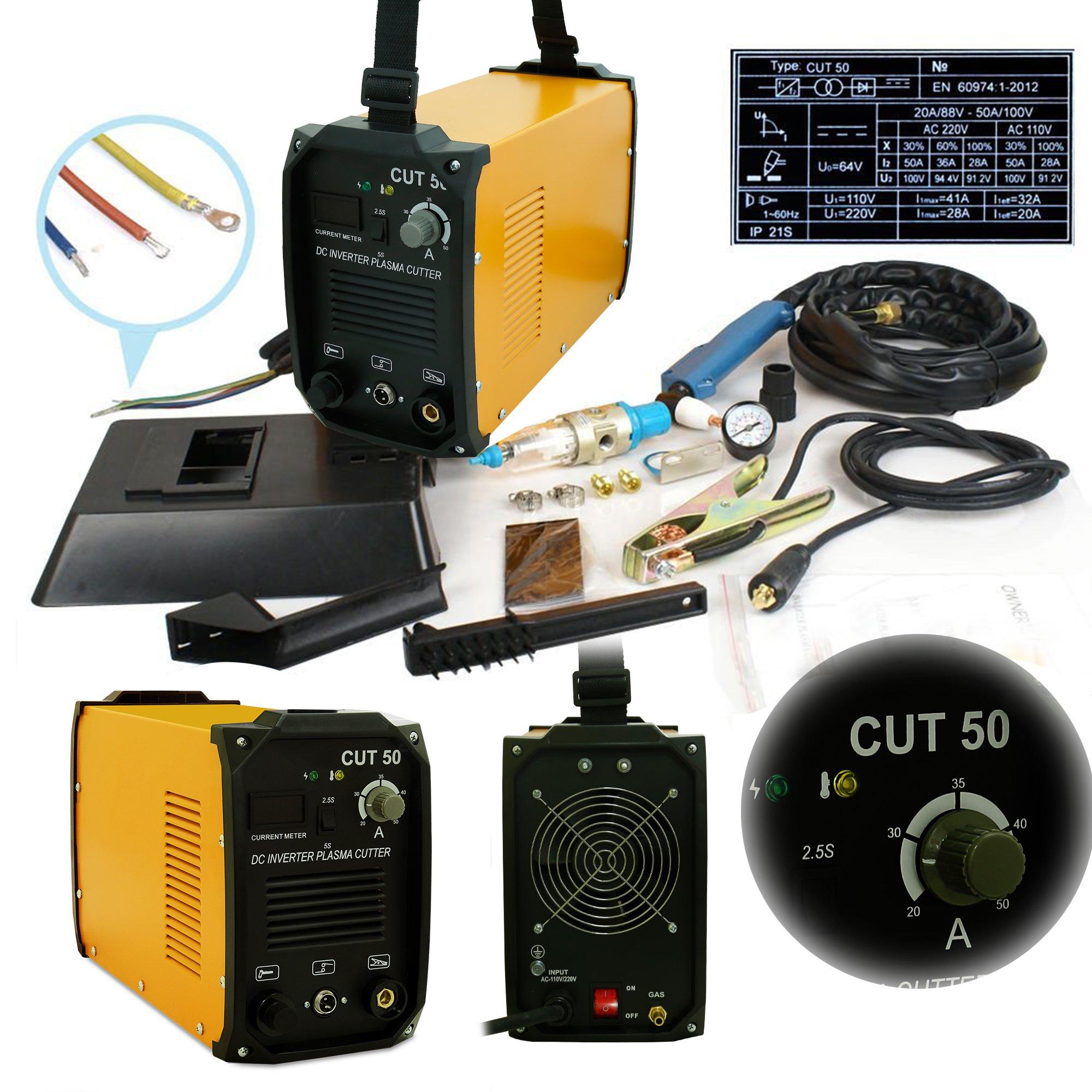 VIVOHOME DC Inverter Plasma Cutter Cutting Machine Dual Voltage 110V/220V CUT-50 by VIVOHOME (Image #2)