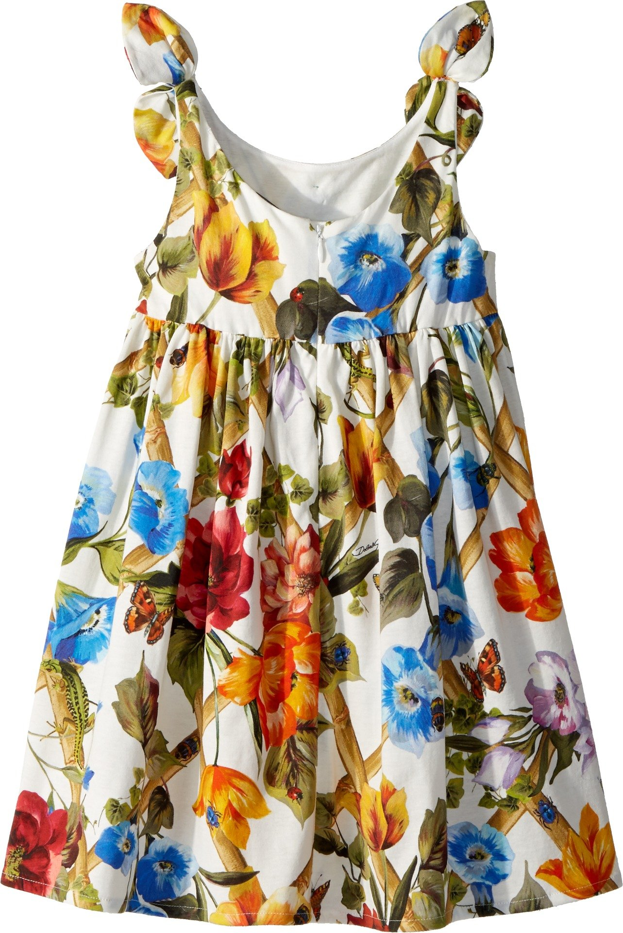 Dolce & Gabbana Kids Baby Girl's Sleeveless Dress (Toddler/Little Kids) White Print 5 by Dolce & Gabbana (Image #2)