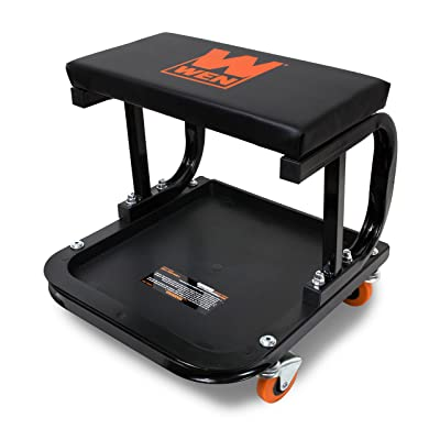 WEN 73011 Rolling Mechanic Seat with Onboard Storage (250-Pound Capacity): Automotive