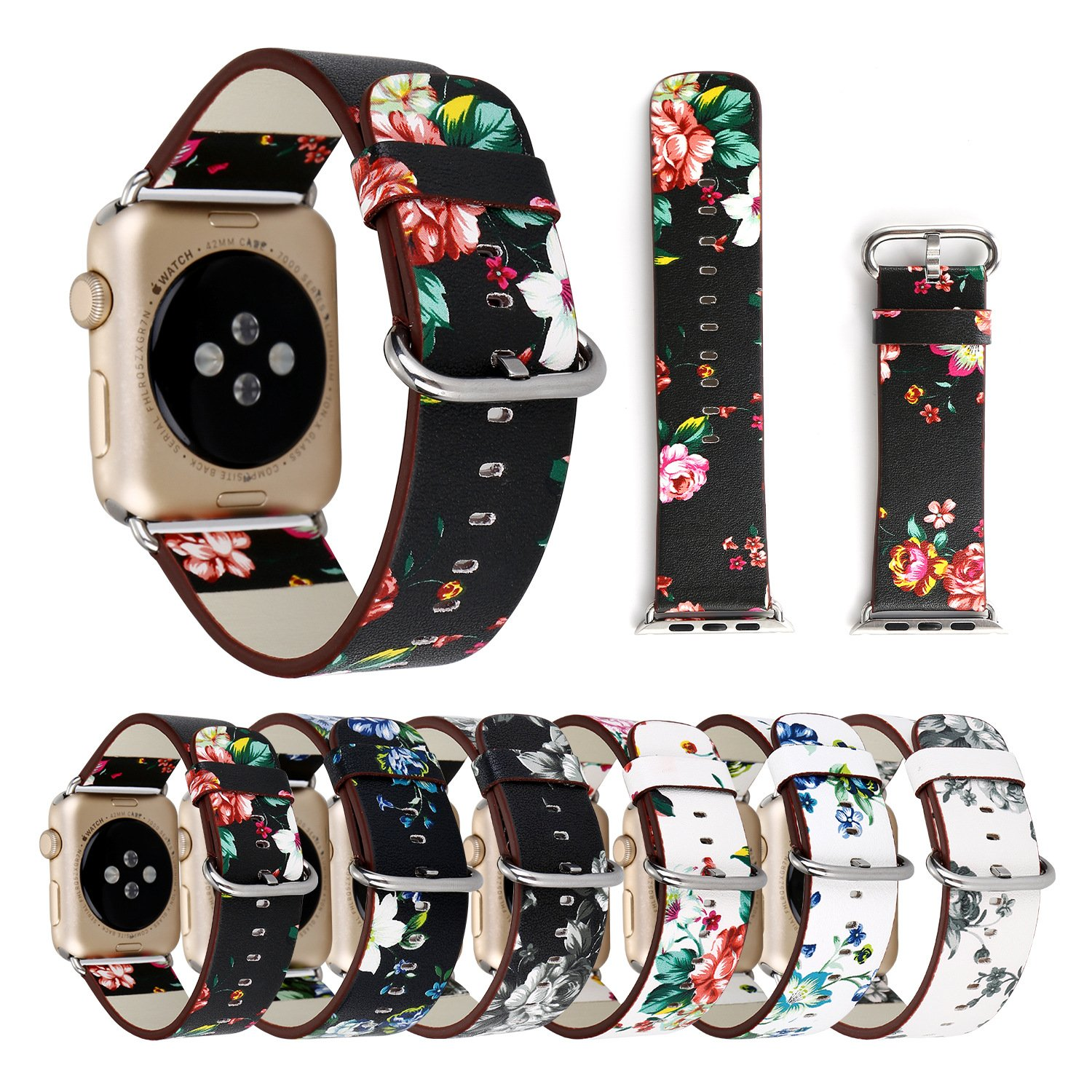 for Apple Watch Band Wrist Watch Strap Bracelet Loop Series 1 Series 2 Series 3 Series 4 38MM/40MM,42MM/44MM SizeName Top Apple Watch Band 38mm Top Apple Watch Bands (Black red, 38mm40mm) by TIMESFRIEND