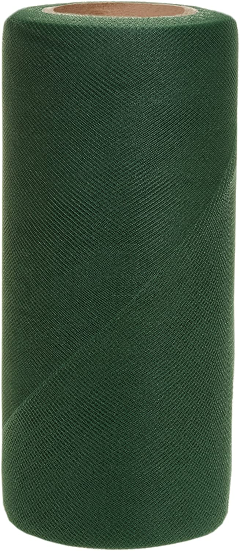 Falk Fabrics Tulle Spool for Decoration, 6-Inch by 25-Yard, Emerald