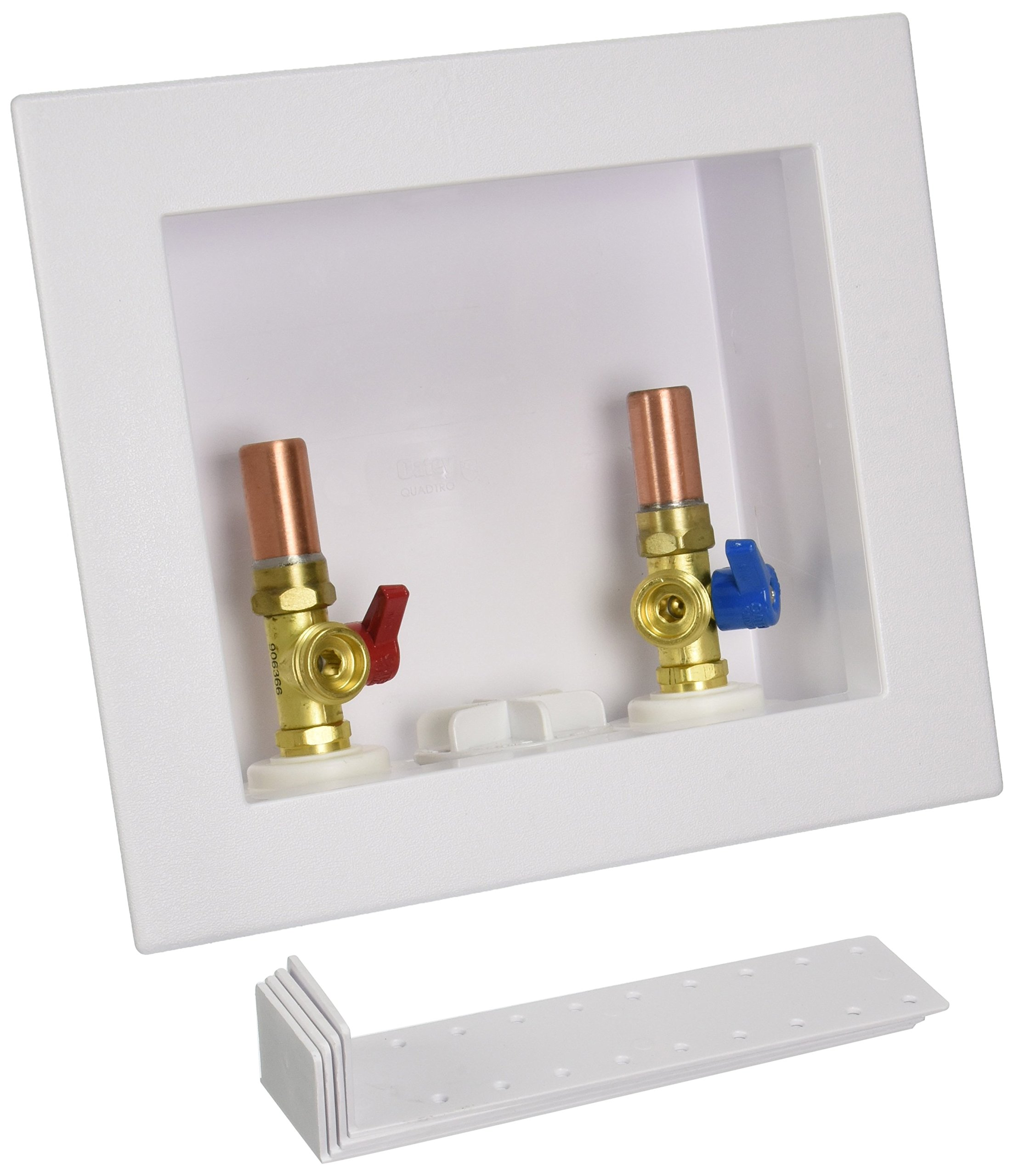 Oatey 38569 Quadtro Copper Sweat Washing Machine Outlet Box with Hammers, 2-Inch