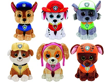 d010d5c7033 Amazon.com  Ty Paw Patrol Beanie Babies - Set of 6! Marshall
