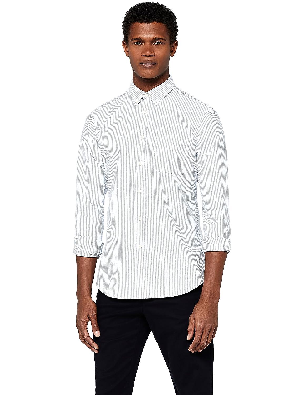 MERAKI Camicia Slim Fit a Manica Lunga Uomo 632454