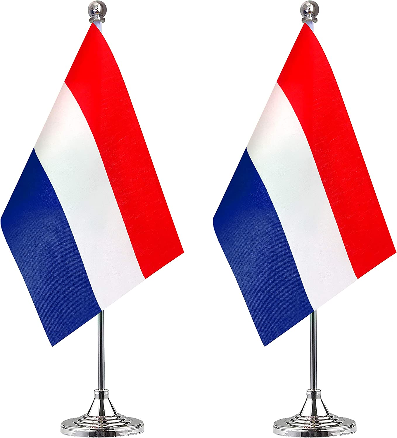 WEITBF Netherlands Desk Flag Small Mini Dutch Holland Office Table Flag with Stand Base,Dutch Holland Themed Party Decorations Celebration Event,2 Pack: Garden & Outdoor
