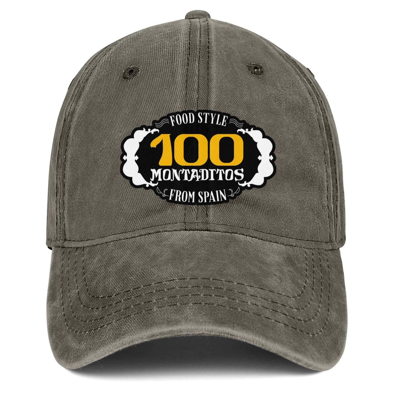 WintyHC 100 Montaditos Logo Cowboy Hat Bucket Hat One Size Gas Cap