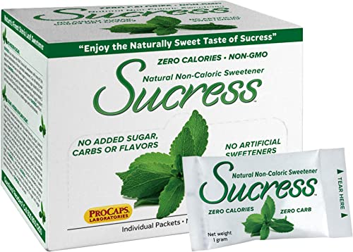 Andrew Lessman Sucress Stevia Sweetener 500 Packets – Natural Non-Caloric Stevia Leaf Sweetener, Zero Calories, Non-GMO, No Added Sugar, Carbohydrates or Flavors, No Artificial Sweeteners.