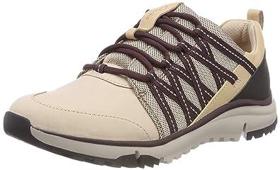 d405cb5ff9c7 Clarks Damen Tri Trail Sneaker, Beige (Nude Pink Combi), 35.5 EU