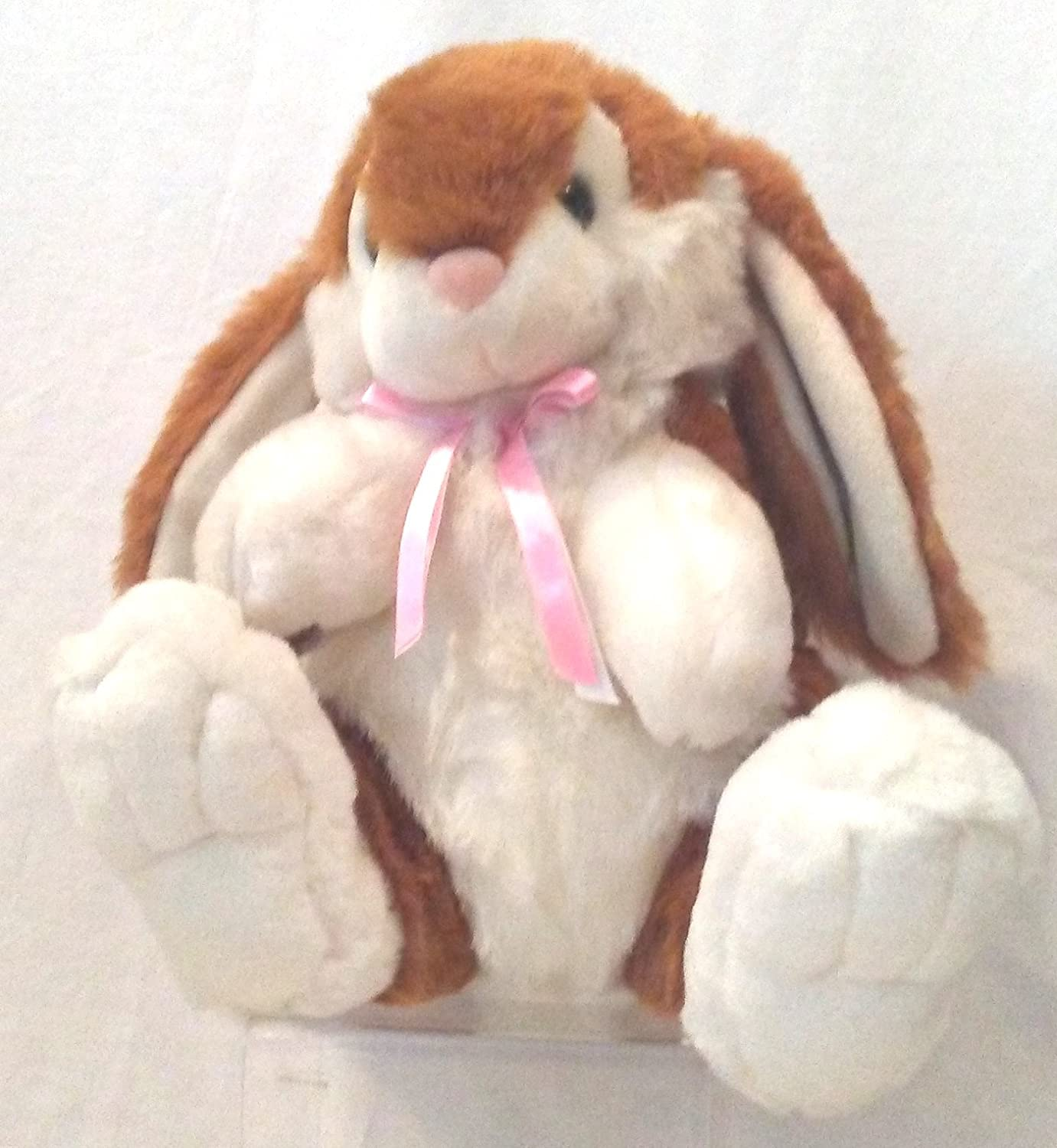 Amazon Com White Brown Fluffy Easter Bunny Stuffed Animal Easter