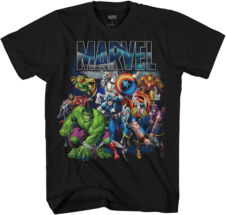 Marvel Thor Hulk Iron Man Avengers Spiderman Daredevil Strange Loki Thanos Adult Tee Graphic T-Shirt for Men Tshirt Clothing