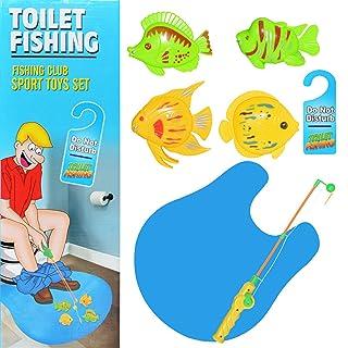 Happy Event Giocattolo Magnetico WC – Set da Pesca Potty Time Pesce Gioco per Adulti Bambini