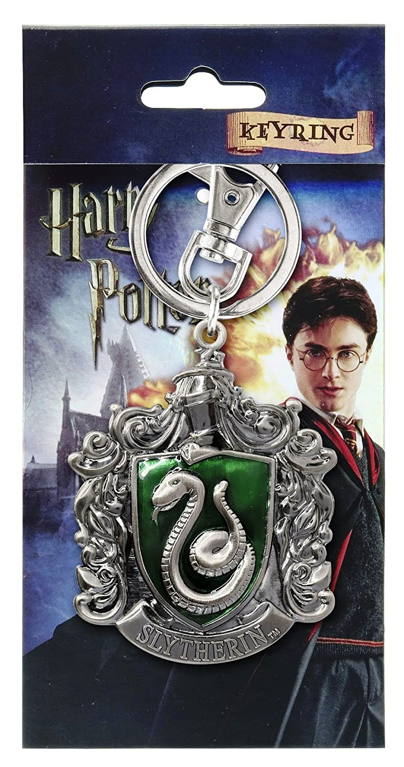 Harry Potter Slytherin Crest Pewter Llavero: Amazon.es ...