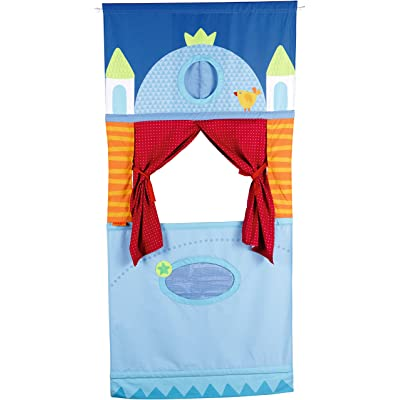HABA Doorway Puppet Theater - Space Saver with Adjustable Rod Fits in Most Doorways: Toys & Games